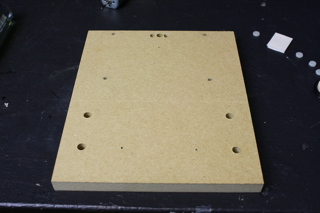 CHRPbot base with drilled holes.