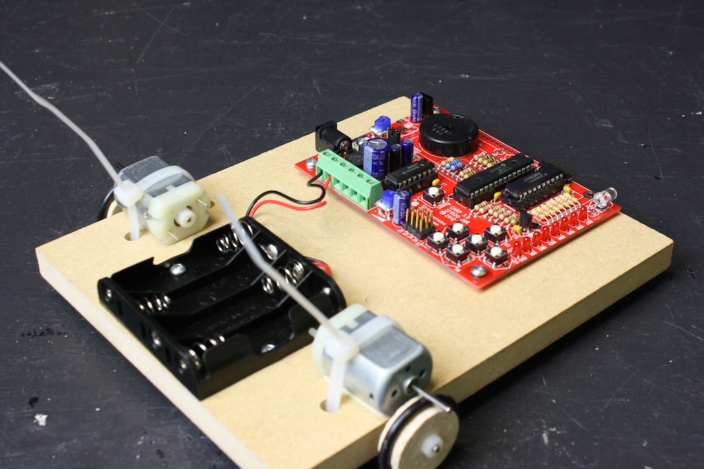 CHRPbot with battery and CHRP board mounted